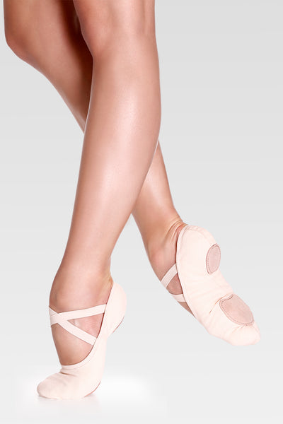 SD16 Bliss Pink Canvas Split Sole Ballet Shoe by SoDanca