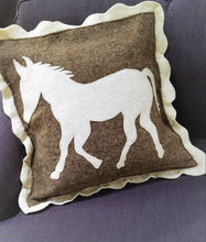 Horse Cushion Cover in Hand Felted Wool - Arcadia Home