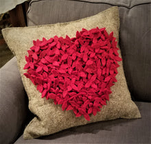 Heart Cushion Cover in Hand Felted Wool - Arcadia Home