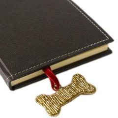 Hand Beaded Dog Bone Bookmark