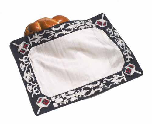 Hanukkah Design Place Mats - Set of Four - Arcadia Home