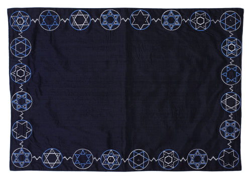 Star of David Place Mats in Silk - Set of 4 - Arcadia Home