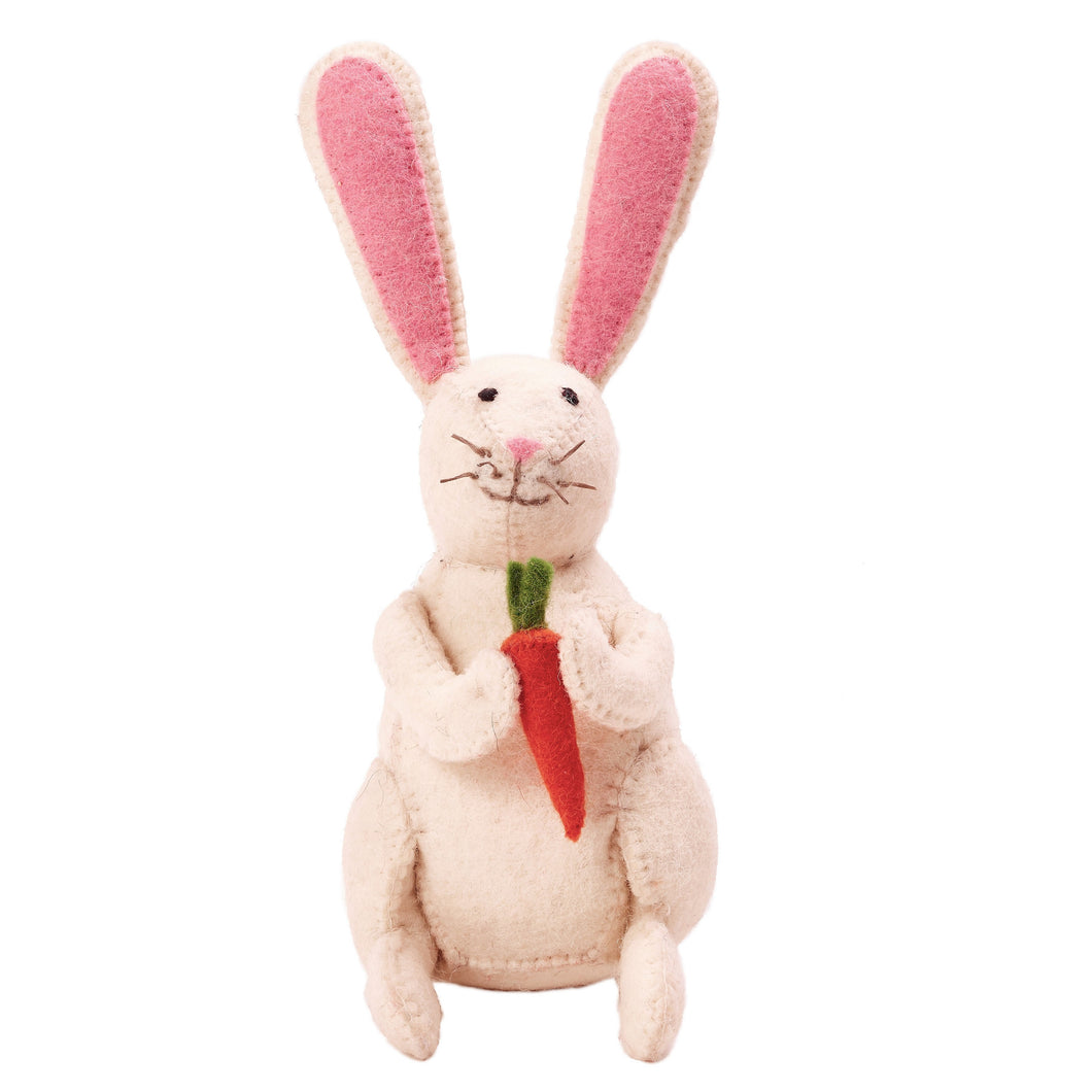 Easter Bunny in Hand Felted Wool - Arcadia Home