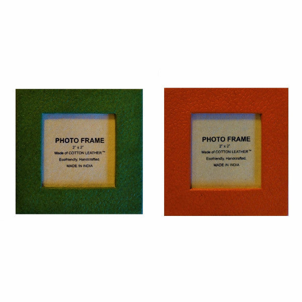Recycled Cotton Magnetic Frames - Set of 12 - Christmas Colors - Arcadia Home