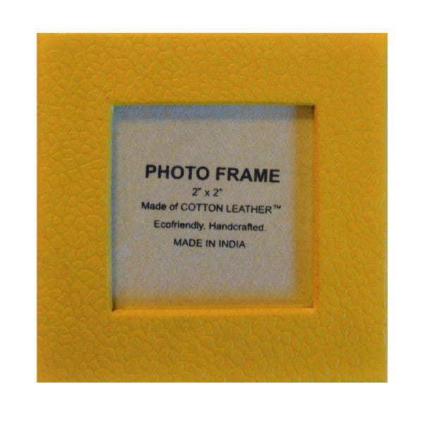 Magnetic Frames in Yellow Recycled Cotton - Set of 12 - Arcadia Home