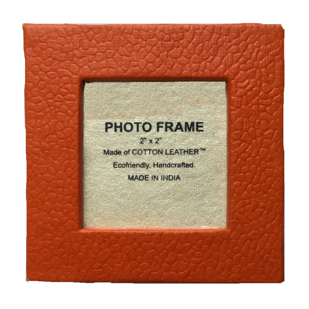 Magnetic Frames in Orange Recycled Cotton - Set of 12