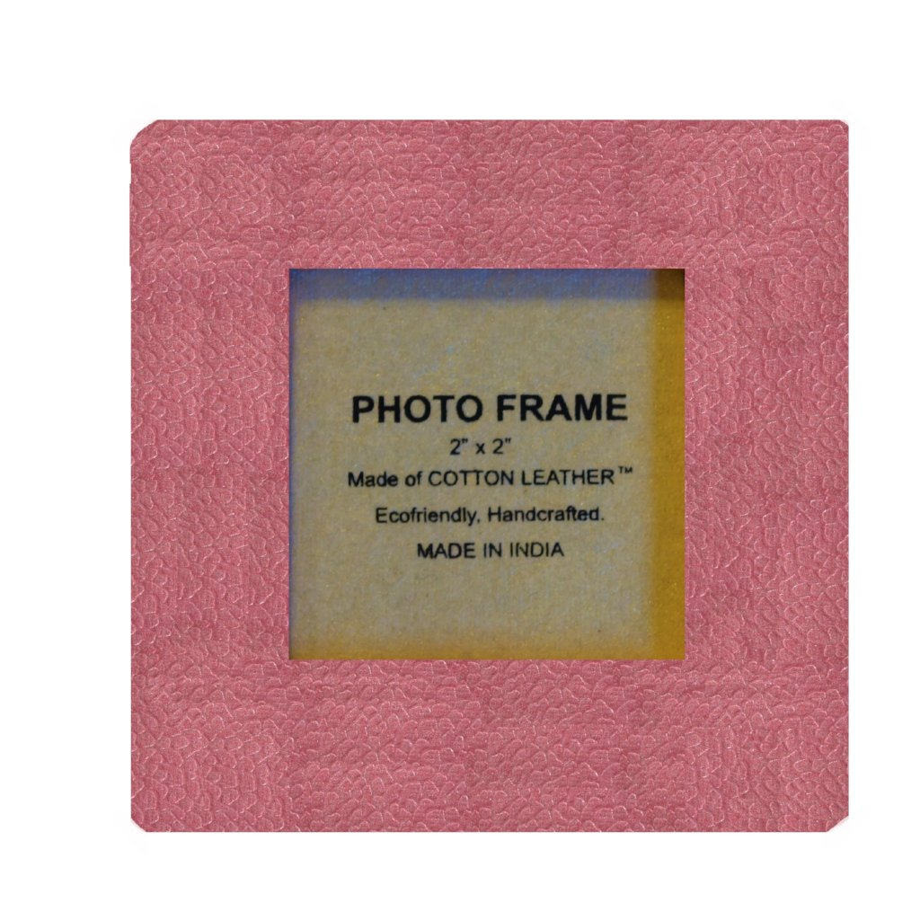 Magnetic Frames in Pink Recycled Cotton - Set of 12