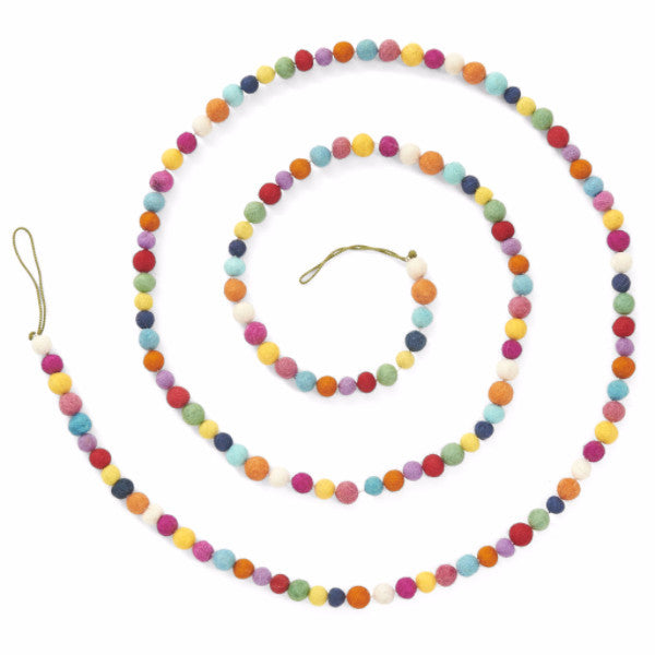 Felt Ball Garland in Multicolor - Arcadia Home