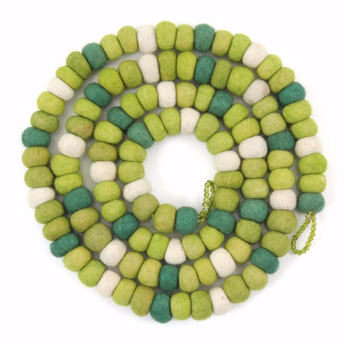Felt Ball Christmas Garland in Lime - Arcadia Home