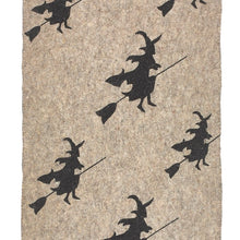 "Hand Felted Wool Halloween Witch Table Runner - 14""x72"""