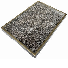 Handmade Reverse Painted Mirror Tray in Terrazzo - Medium - Arcadia Home