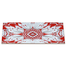 Handmade Reverse Painted Mirror Tray with Beveled Edge in Tomato Red - Small - Arcadia Home