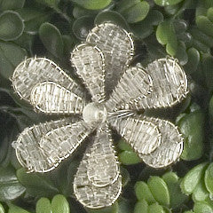 Daisy Napkin Ring in Silver - Set of 6