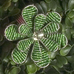 Set of Six Daisy Napkin Rings in Green - Arcadia Home
