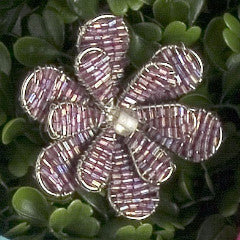 Set of Six Daisy Napkin Rings in Purple - Arcadia Home