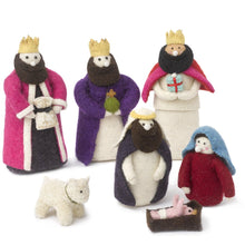 Handmade Nativity Scene in Hand Felted Wool - Arcadia Home