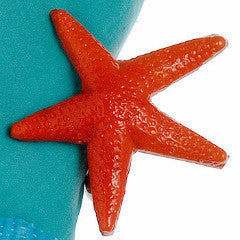 Orange Starfish Napkin Ring - Arcadia Home