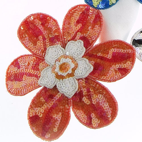BIG FLOWER! Napkin Ring in Orange - Arcadia Home
