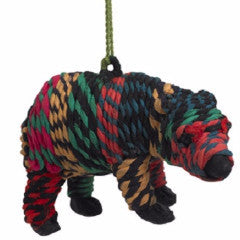 Bear Ornament in Recycled Clothing