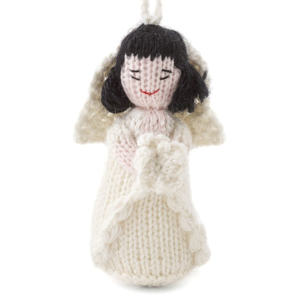 Hand Knit Wedding Ornament - Asian Bride - Arcadia Home