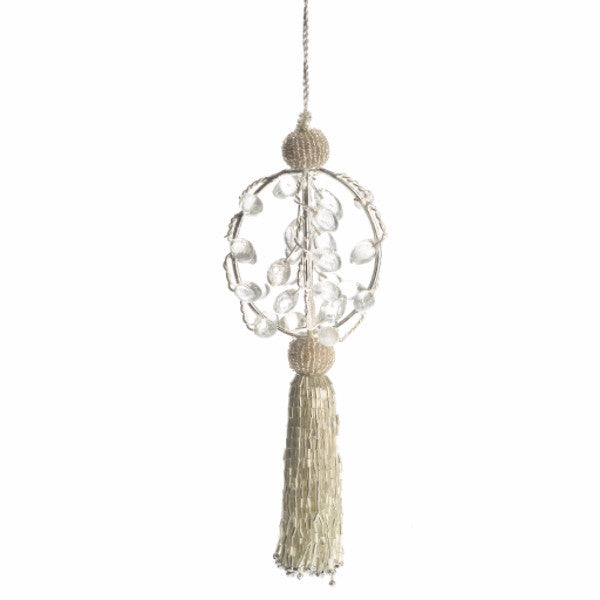 Tassel Ornament in Silver and Gold