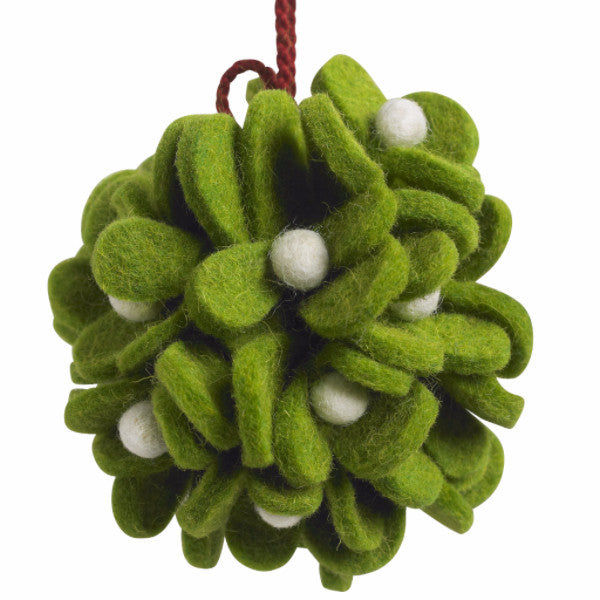 Mistletoe Ball Ornament - Arcadia Home