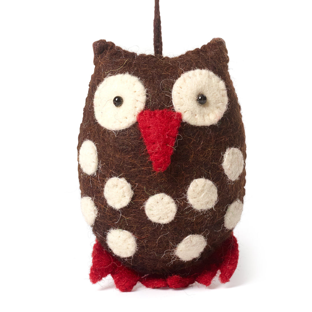 Owl ornament- chocolate