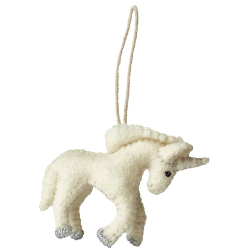 Handmade Felt Unicorn Christmas Ornament