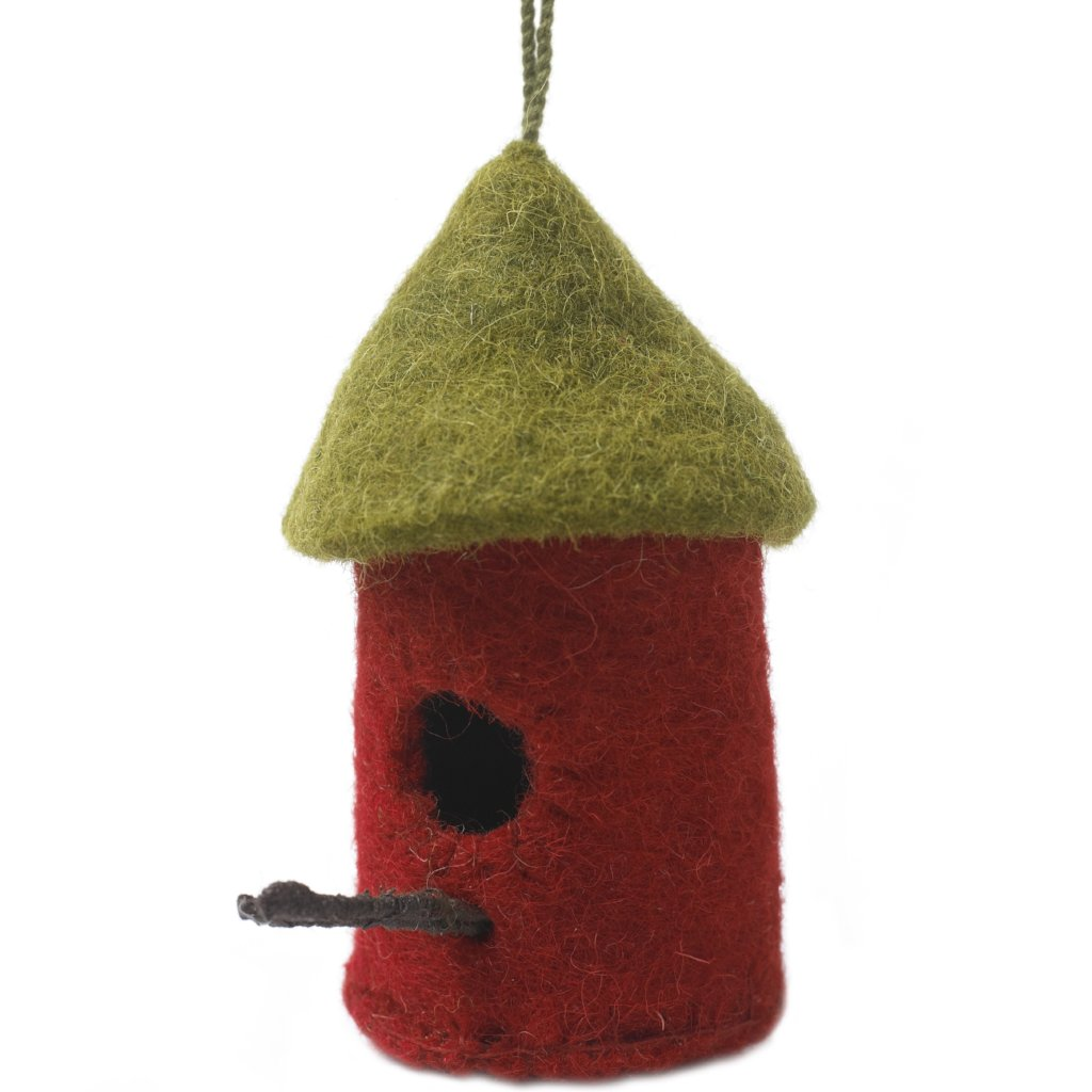 Handmade Felt Birdhouse Christmas Ornament