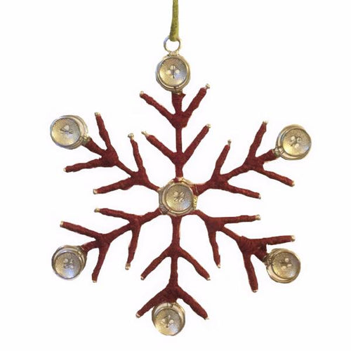 Christmas Snowflake Ornament with Buttons