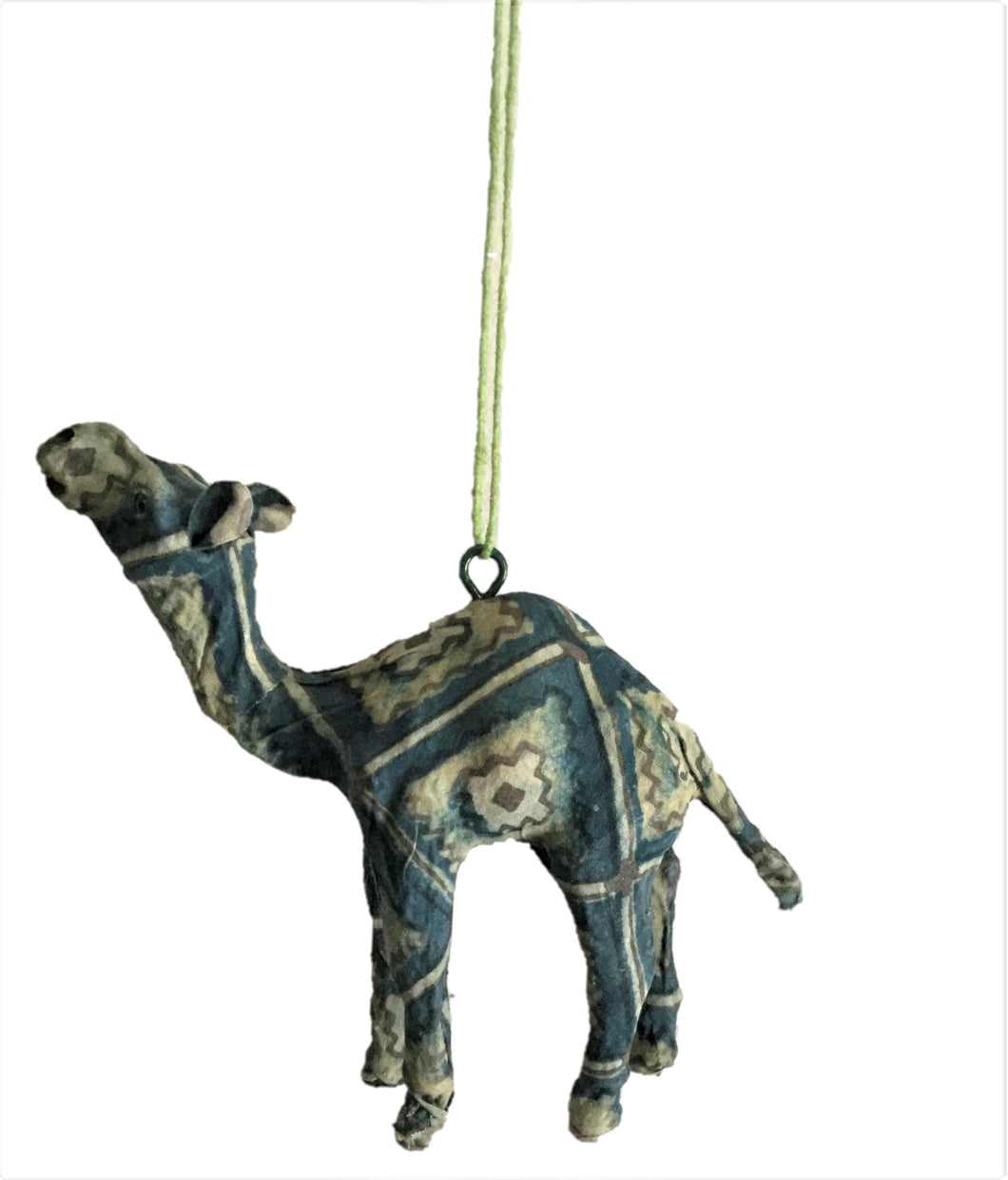 Handmade Paper Mache Camel Christmas Ornament