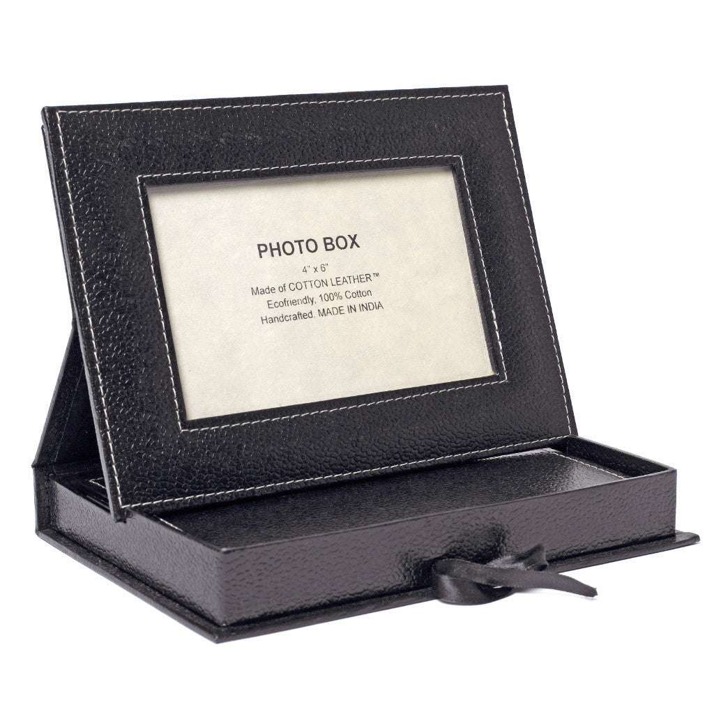 Photo Frame Box with Journal in Black - Arcadia Home