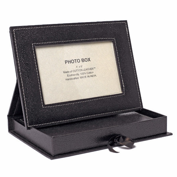 Photo Frame Box with Journal in Chocolate - Arcadia Home