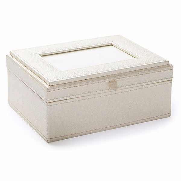 Photo Frame Box in Ivory Recycled Cotton - Arcadia Home