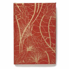 Recycled Cotton Journal in Red and Gold Beach Grass- 4
