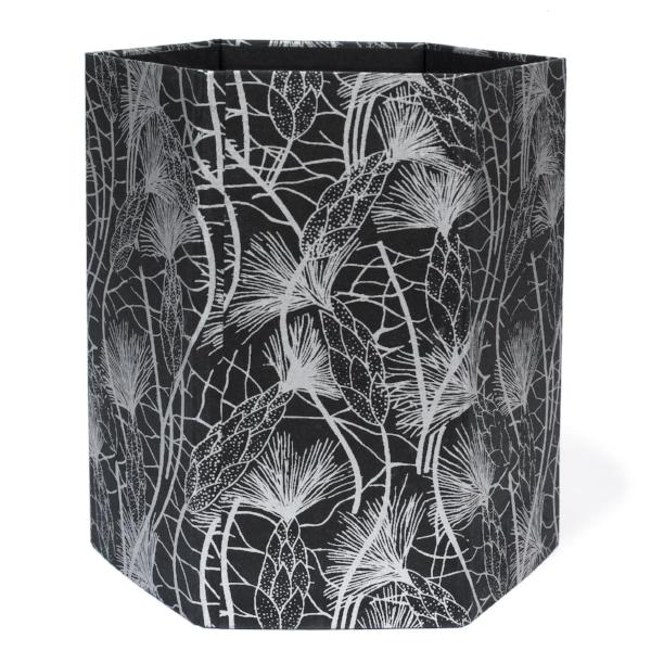Recycled Cotton Storage/Wastebasket in Black Beach Grass Design