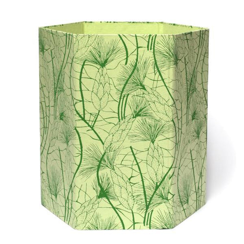 Recycled Cotton Storage/Waste Basket In Green Beach Grass - Arcadia Home