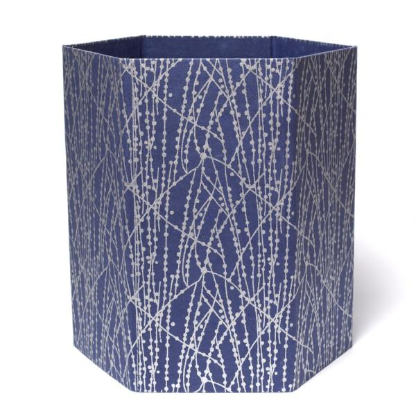 Recycled Cotton Storage/Waste Basket In Blue Dot Lines - Arcadia Home