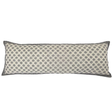 "Artisan Hand Loomed Cotton Body Pillow Cover - Gray Dots - 16""x48"""