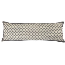 "Artisan Hand Loomed Cotton Body Pillow - Gray Dots - 16""x48"""
