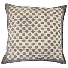 "Artisan Hand Loomed Cotton Square Pillow - Dots in Gray - 24"" - Arcadia Home"