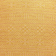 Artisan Hand Loomed Cotton Square Pillow - Yellow Diamond Design - 24""