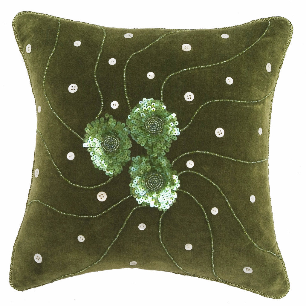 Green Velvet Pillow-14
