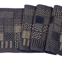 "Artisan Hand Loomed Cotton Table Runner - Indigo Blocks - 18""x96"" - Arcadia Home"