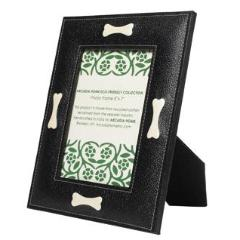 Dog Bone Frame in Recycled Cotton - Black - Arcadia Home