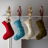 Scattered Flowers Christmas Stocking in Blue - Arcadia Home