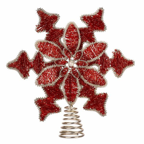 Red Beaded Tree Topper - Arcadia Home