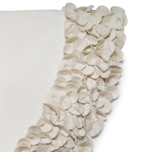 "Cream Calla Lily  Flower Border Christmas Tree Skirt in Recycled Wool - 60"" - Arcadia Home"