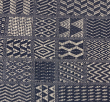"Artisan Hand Loomed Place Mat - Indigo Blocks - 14"" x 19""- Set of 4"