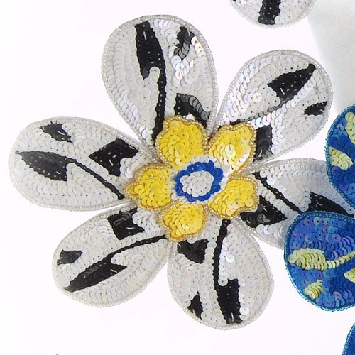 Set of Four BIG FLOWER! Napkin Rings with Yellow Center - Arcadia Home